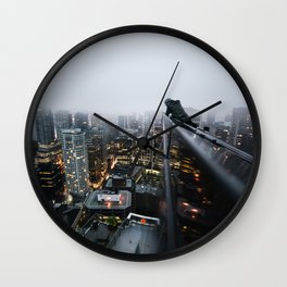 Vancouver British Columbia Canada Skyline Wall Clock