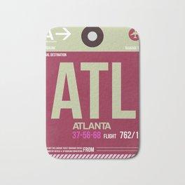 ATL Atlanta Luggage Tag 2 Bath Mat