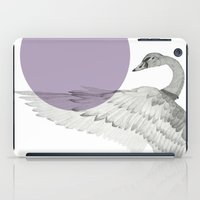 swan iPad Cases featuring swan by morgan kendall
