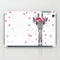 girl iPad Cases featuring FLOWER GIRL by Monika Strigel