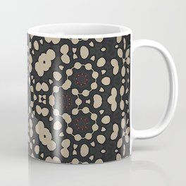 Pebble Mosaic // Abstract Geometric Circle Stone Black White Pattern Ink Rustic Coffee Mug