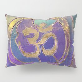 Om Symbol Golden and Paint texture Pillow Sham