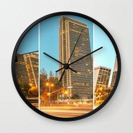 City Awakening Triptych Wall Clock