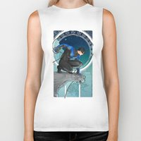 nightwing Biker Tanks featuring Nightwing Nouveau by stoopz