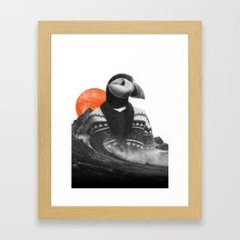 The Hipster Puffin Framed Art Print