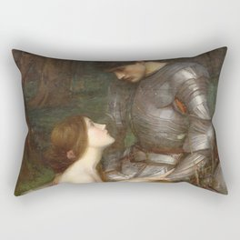 John William Waterhouse - Lamia Rectangular Pillow
