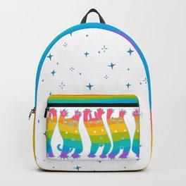 Rainbow bear rabbit cat dancing Backpack