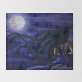 Under the Full Moon Throw Blanket