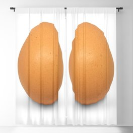 Chicken Egg , the brown eggs Artistic inspiration Blackout Curtain