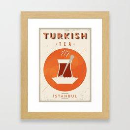 Vintage Turkish Tea Poster Framed Art Print