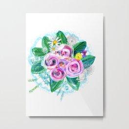 Flowers for bride Metal Print