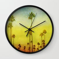 kerouac Wall Clocks featuring California Love by Honey Malek