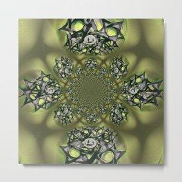 Chai Mandala - Green Mist Metal Print
