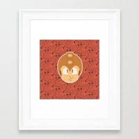 megaman Framed Art Prints featuring Megaman by Kuki