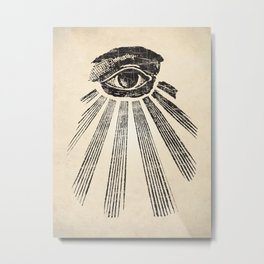 All Seeing Eye Art Print Metal Print