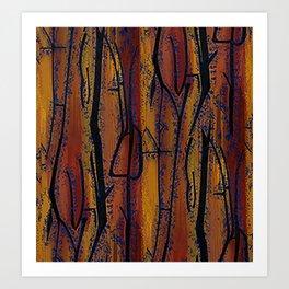 Brown Wood Art Print