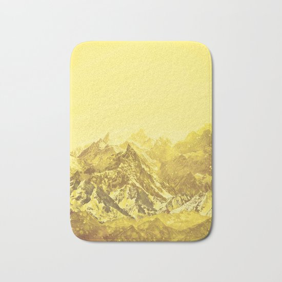 Mountains Yellow Bath Mat
