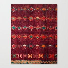 -A8- Colored Traditional Moroccan Carpet Artwork. Canvas Print