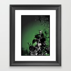 GREEN BASS Framed Art Print
