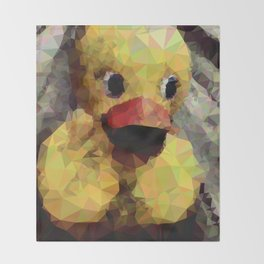 Geometric Yellow Rubber Duck Throw Blanket