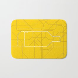 London Underground Circle Line Route Tube Map Bath Mat
