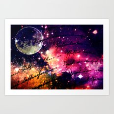 Letter from outer space Art Print