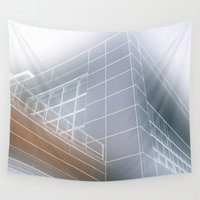 architect Wall Tapestries featuring Minimalist architect drawing by Solar Designs