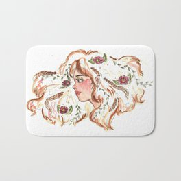 Rollin in a flower patch and now theres flowers in your hair Bath Mat