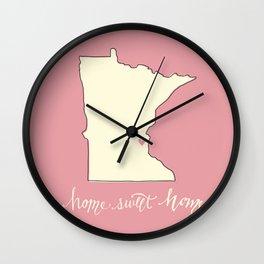 Home, Sweet Home - Twin Cities, MN Wall Clock