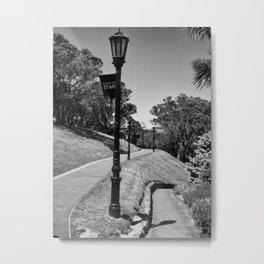Garden Path Lighting Metal Print