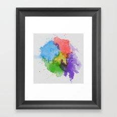Be Awesome Framed Art Print