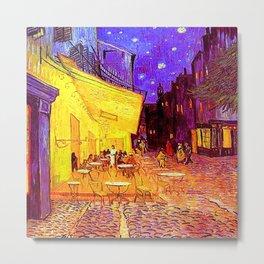 Van Gogh Cafe Terrace at Night Metal Print