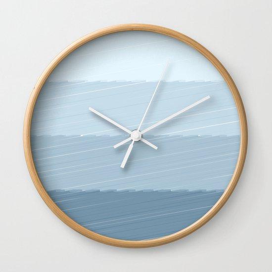 Blue Bars Wall Clock