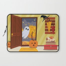 Trick or Treater Halloween Illustration Laptop Sleeve