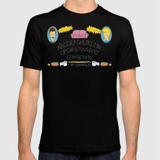 Beavis and Ouija Board Mens Fitted Tee Black MEDIUM