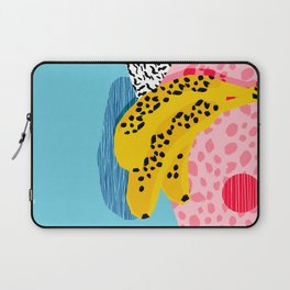 What It Is - memphis throwback banana fruit retro minimal pattern neon bright 1980s 80s style art Laptop Sleeve