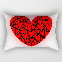 Love Hearts Rectangular Pillow