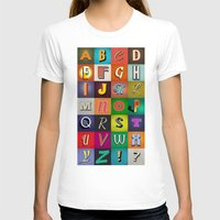 alphabet T-shirts featuring Alphabet by rob art | simple