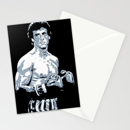 Sylvester Stallone as Rocky Balboa, portrait pop Stationery Cards