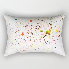 RAINBOW INK SPLOTCHES Rectangular Pillow