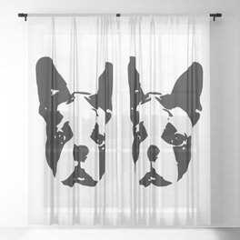 Boston Terrier Gifts Sheer Curtain