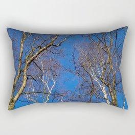Winter Silver Birch Rectangular Pillow