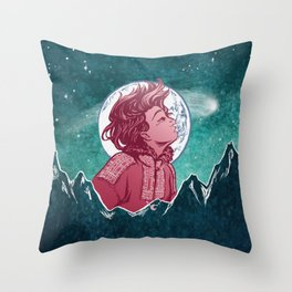The Astronomer Who Met The North Wind Throw Pillow