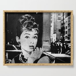 Miss Golightly - black Serving Tray