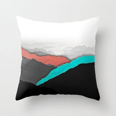 Mountain Highlights Throw Pillow