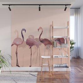 Summer Flamingos Wall Mural