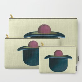 A single plum floating in perfume served in a man's hat. Carry-All Pouch