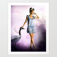 Purple Moon Art Print