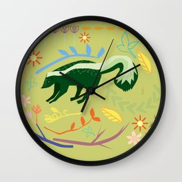 Skunky Wonderland Wall Clock