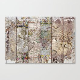 Old Times (World Map) 2 Canvas Print
